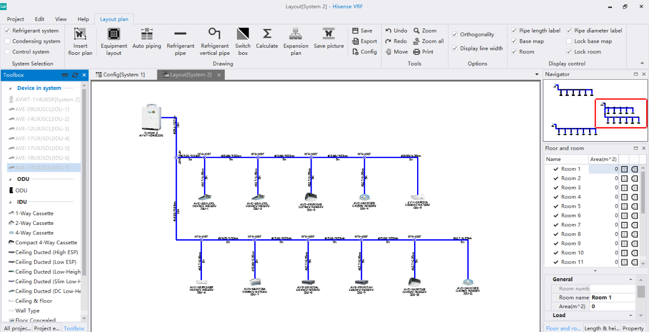 Hisense Vrf Piping Layout Tools Generate Device Diagram Wiring And Project Detailed Report Automatically Furthermore The Software Supports Insertion Of Architectural